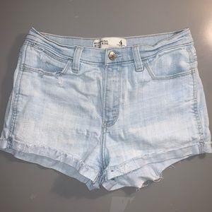 abercrombie high rise jean shorts
